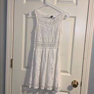 White lace formal dress